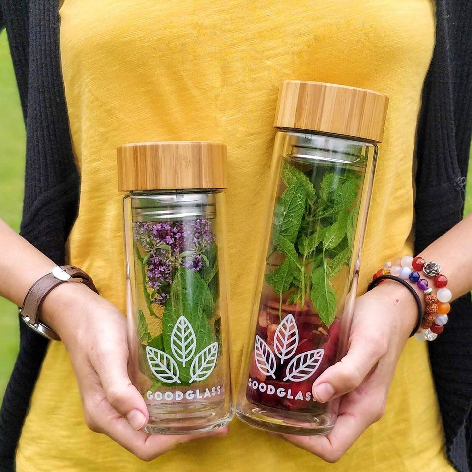 GoodGlass česká skleněná ekologická lahev na vodu