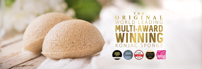 The Konjac Sponge Company - přírodní konjacové houbičky na čištění pleti v krásných obalech