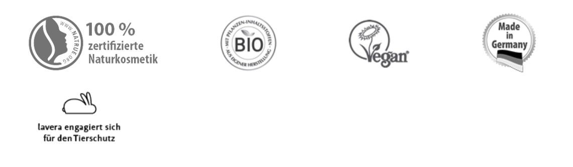 lavera je držitelem několika certifikátů