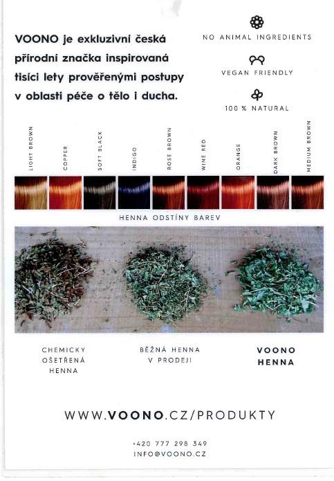 Vzorník barev Voono
